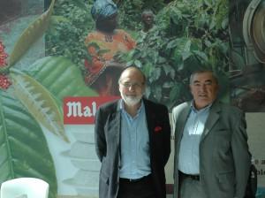 Jean-Pierre Blanc, directeur de Malongo et Alain Dutheil, membre du conseil d'administration de l'AFQP06 (ancien DG de ST Microelectronics)